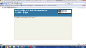 Main page after successful registration